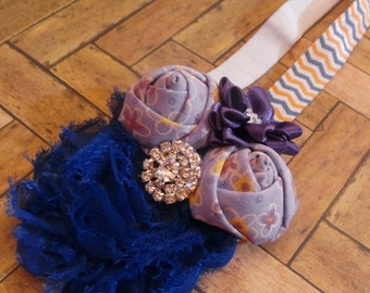 Baby Headband Cobalt Lavender