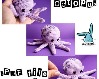 Amigurumi octopus. PDF file crochet pattern, crochet toy, amigurumi toy