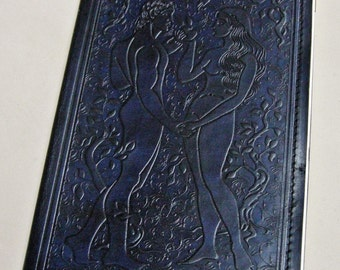 A5 Size Adam and Eve Handmade Leather Guestbook/Journal/Sketchbook/Diary