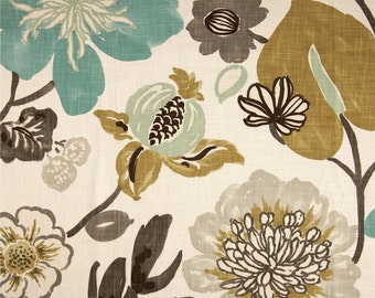 Gorgeous Pearl Floral Fabric By Braemore, Multi Colored Floral Home Decor Fabric - By the Yard