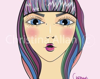 Kawaii portrait print