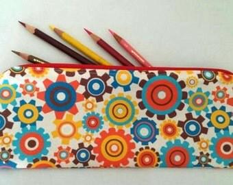 Colorful Gear Zipper Pouch