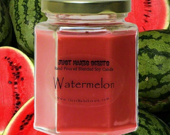 Watermelon Scented Blended Soy Candle - Free Shipping on Orders of 6 or More - Blake Shelton Watermelon Candles
