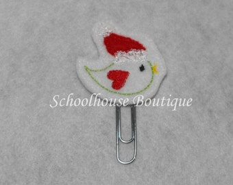 Christmas Song Bird felt paperclip bookmark, felt bookmark, paperclip bookmark, feltie paperclip, christmas gift, teacher gift