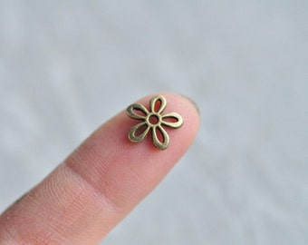 100pcs Antique Bronze Flower Bead Cap 11.5mm PP694