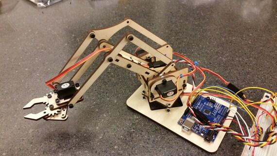 Mearm mini industrial robotic factory arm v wood kit