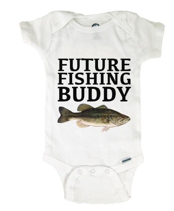 Baby Onesie Future Fishing Buddy With Bass Bodysuit Baby