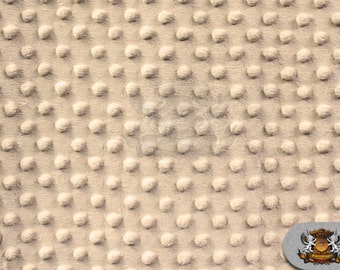 "Minky DIMPLE DOT Taupe Fabric / 58"" Wide / Sold By the yard"