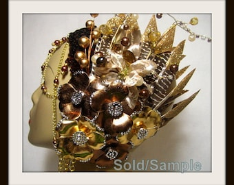 SOLD. Tribal Headpiece ~ Headdress ~ Bellydance ~ Burning Man