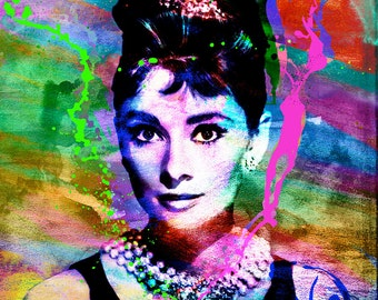 Audrey Hepburn Art, Original Painting Art Print