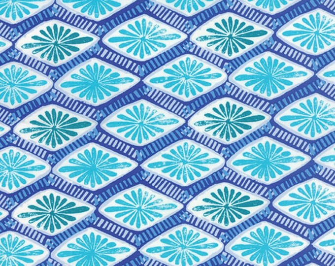 One Yard Horizon - Intersection in Ultramarine - Cotton Quilt Fabric - designed by Kate Spain for Moda Fabrics - 27195-13 (W2308)