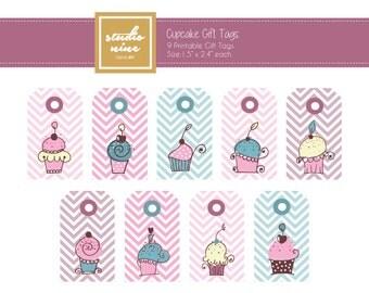 Cupcake Printable Gift Tags