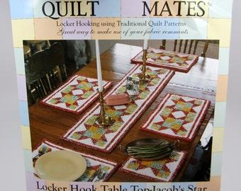 Quilt Mates Locker Hook Table Top Jacob's Star Kit