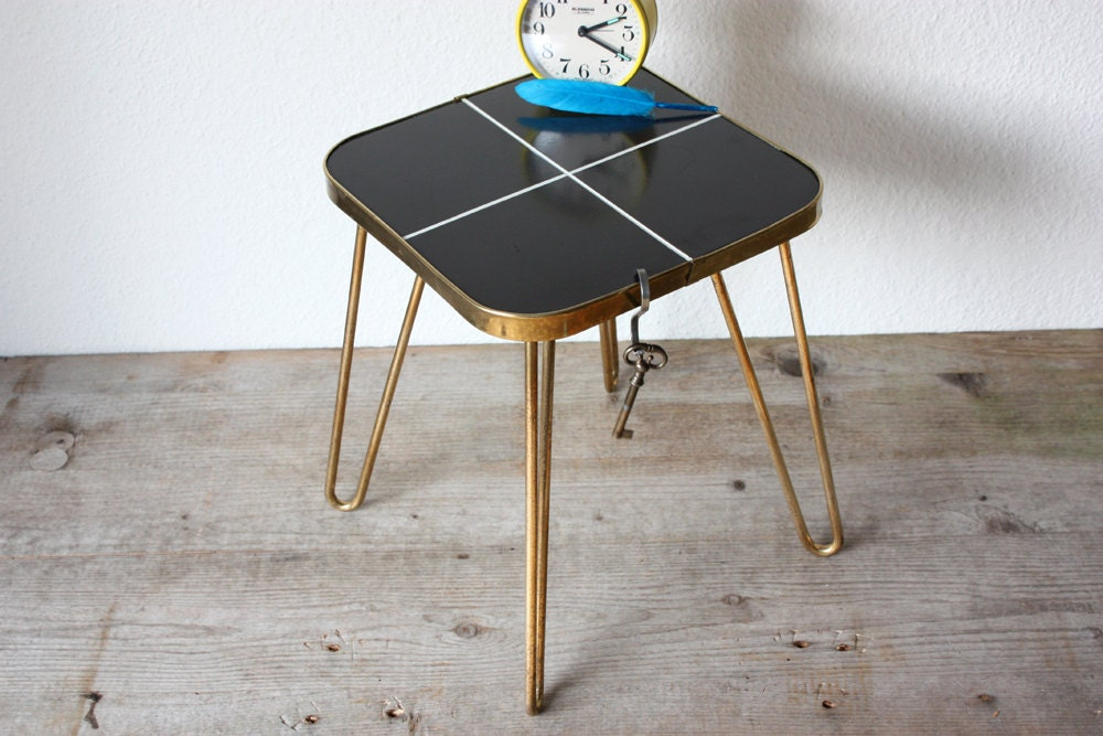 Small Bed Side Stand : Plant stand small coffee table tile bedside side by wohnraumformer