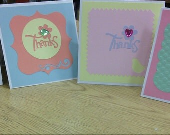 Thank You Cards: Paper, Handmade Cards, Hostess Gift, Note Cards