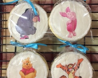 Winnie the Pooh Cookies, Piglet, Tigger, Eyore, Birthday Party, Baby Shower
