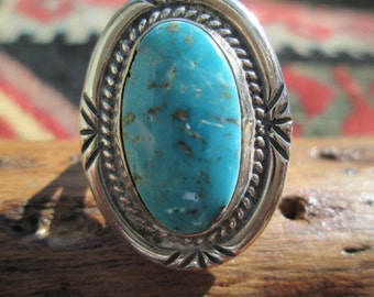 Vintage Turquoise and Sterling Ring Size 7.25