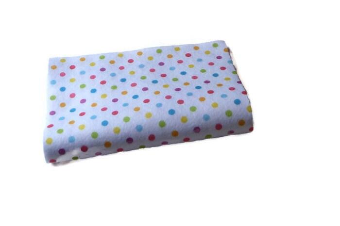 Polka dot felt fabric squares thefeltcollector multicolored for Polka dot felt fabric