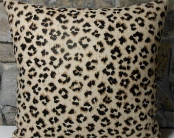 Linen Animal Print Pillow Covers //Custom Pillow Cover