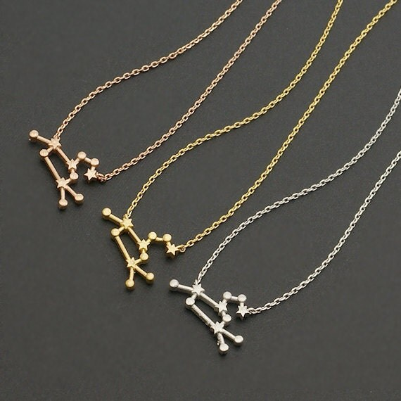 Leo Zodiac Sign Astrology Necklace / constellation jewelry, star sign ...