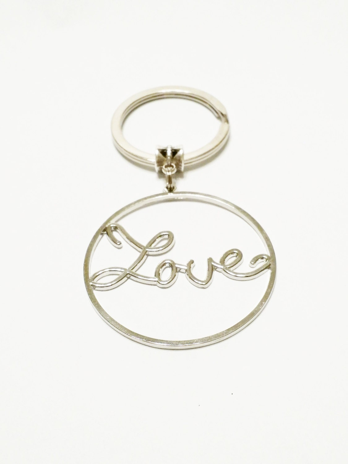 Love Keychain / Love Key Ring / Keychain / Love Hoops / Birthday ...