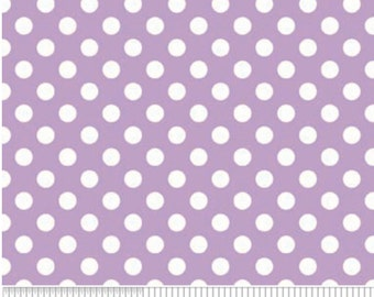 Small White Dot LAVENDAR-One Yard- Riley Blake