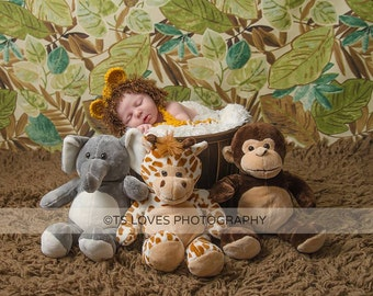 Baby Boy hat Lion hat and diaper cover set photo prop costume Halloween choices