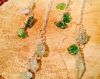 Elegant Raw Seaglass Necklace