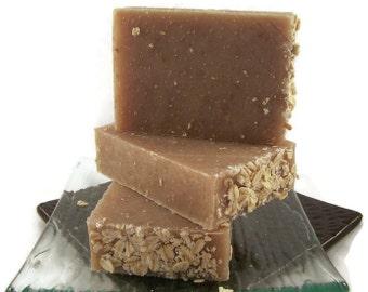 Oatmeal Milk and Honey Soap 100% All Natural Vegan soap Handmade