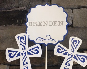 3 Piece Christening/baptism Centerpiece