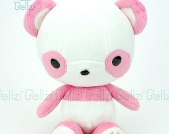 """Bellzi® Cute Panda Plush Stuffed Animal Toy """"Pink"""" White Contrast Plushie - Pandi"""