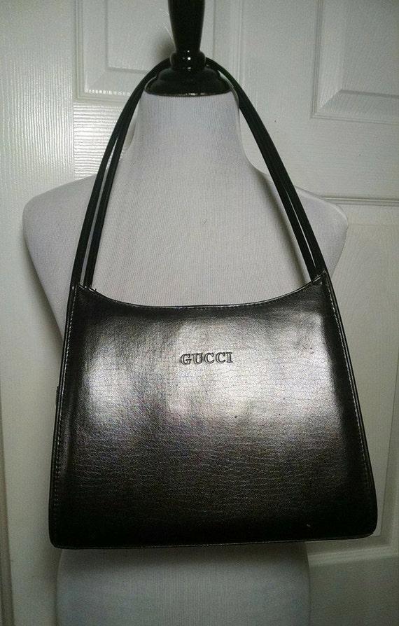 REDUCED 1990s Fun Faux Gucci Purse//Black Shoulder