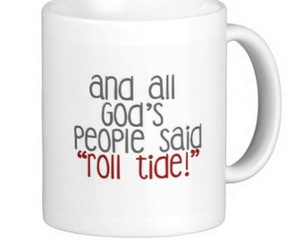 University of Alabama Roll Crimson Tide Gift Mug Football