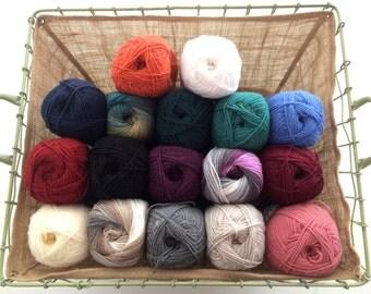 Alize superlana klasik wool blend double knitting DK yarn 100g plain & ombre batik