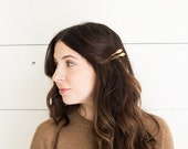 MIRA: gold leaf hair pins