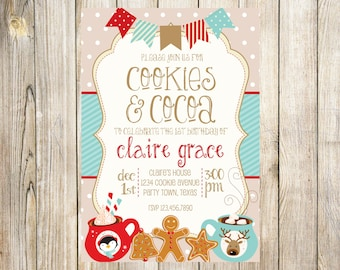 Cookies and Cocoa Invitation