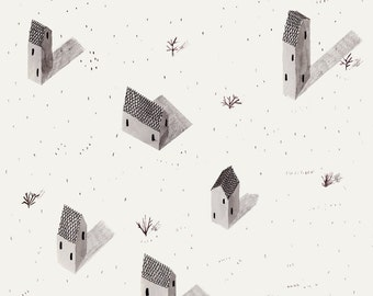 tiny houses by Ana Frois . digital print