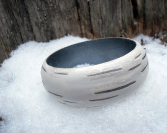 Winter Birch Bark Bracelet