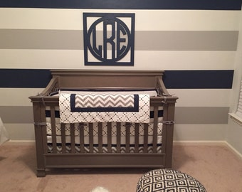 EXTRA LARGE Wooden Monogram Wall Decor -Circle Monogram Font-Wood Monogram- Wedding Monogram- Nursery Decor- Home Decor -Wooden Wall Hanging