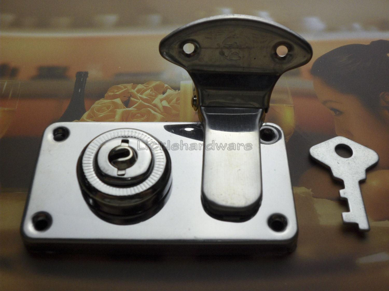 73mmx41mm Silver Lock Latch Small Box Hardware Jewelry Box