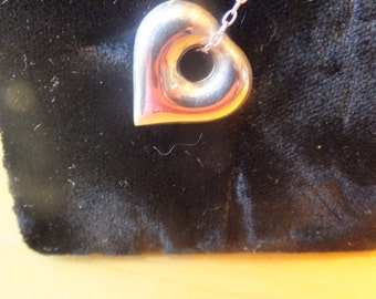 Floating Sterling Heart and Sterling Chain