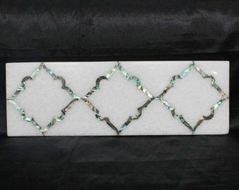 Back Splash Tile / Marble Inlay Wall Tiles Pietra Dura Vintage Art