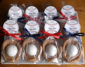 Baseball Party Favors - Baseball Party, Baseball Favors, Baseball Soap, Baseball Birthday Party, Baseball Party Decorations - Set of 15
