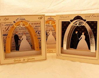 3D SVG wedding invitation or greetings card DIGITAL download