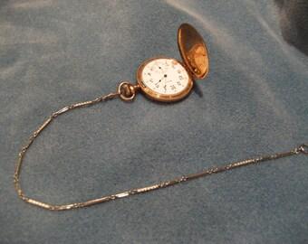 Vintage 14KT White Gold Pocket Watch Chain