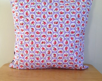 Rose and Hubble Cushion/Cushion Cover in PURPLE, Home Decor, Home Furnishings, Cath Kidston INSPIRED, Purple Home Furnishings, Floral Decor