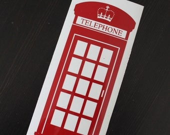 London England British Phonebooth Car Decal, Phone Booth Vinyl Sticker