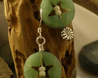 Jade Star Earrings