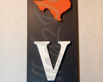 State Pride Love Vertical Wood Sign PAINTED - Love, Home Decor, Wooden Sign