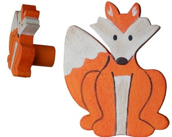 Woodland Fox Drawer Knob - Fox Drawer Pull